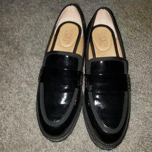 Black Franco Sarto Patent Leather Loafer. Sz 6.5